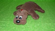 "Pound Puppies RUMPLE SKINS Brown Puppy Dog 7"" Long Vintage"