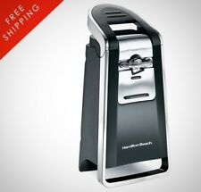 Can Opener Smooth Touch Easily Open All Standard Size Cans Black And Chrome
