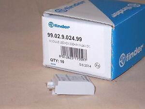 Finder Relay 99.02.9.024.99 LED indicator and diode module (NIB)