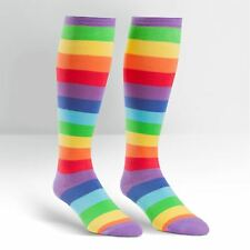 """EXTRA STRETCHY"" Size! Stripes ~ Super Juicy Stripe ~ Wide Calf Knee High Socks"