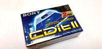 PACK 2 SONY 90' CDit II CHROME CrO2 SLIDE CASE / 2 Audio Tape Cassette N&S