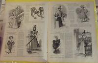 LE MONITEUR DE LA MODE N°39 26/09/1896 TOILETTE AMERICAINE