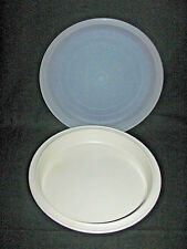 "Tupperware Ultra 21 Almond 9"" Pie Pan or Baking Dish #1766 with Seal"