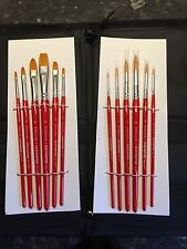 Face Painting Brushes Model Painting - Full Set of Twelve Plus Easel Carry Case!