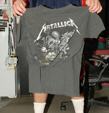 METALICA GRAY BAND T SHIRT JAMES HETFIELD LARS ULRICH MED TWO SIDED ART
