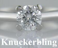 Diamond Platinum Engagement Ring 0.80ct Certificated Brilliant Cut E Colour Exc
