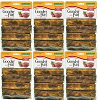 "Good n Fun Healthy Natural Hide Beef Flavored Basted Dog Ribs 8ct - ""Lot of 6"""