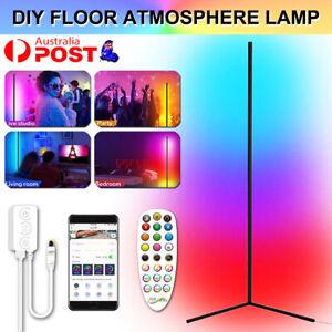 156 CM RGB LED Floor Corner Lamp Light Stand Bluetooth Streaming Game Decoration