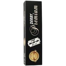 DERBY PREMIUM DOUBLE EDGE RAZOR BLADES-PACK OF 10-Same Day Post-Aus Seller