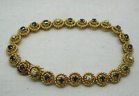 Beautiful Heavy Quality 18ct Gold Sapphire And Diamond Bracelet