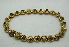 Beautiful Heavy Quality 18ct Gold Sapphire And Diamond Bracelet