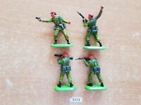 Britains Super Deetail Modern British Paratroopers Set of 4(lot 3373)