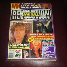 Metal Revolution Magazine September 1990 Iron Maiden Lita Ford Complete