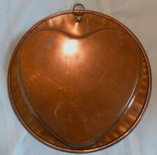 VINTAGE Copper Tin Lined HEART MOLD Signed BLUEBIRD