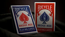2 Decks BRIDGE SIZE Bicycle Playing Cards red & blue 86 RIDER Sealed small USPCC