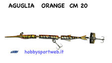ARTIFICIALE - AGUGLIA SNODATA  CM 20 COLORE ORANGE pesce serra