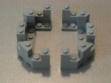 Lego Castle - 2 x Grey Castle Turret Top 4 x 8 x 2 1/3 (6066)