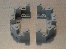 Lego Castle - 2 x Grey Castle Turret Top 4 x 8 x 2 1/3 (6066)