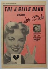 J. GEILS BAND 1980 Poster Ad LOVE STINKS