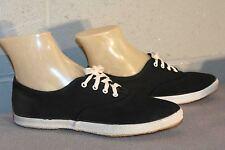 6 Vtg 70s Nos All Black Pointed Toe Tennis Sneaker New LaCrosse Hippie Boho Shoe