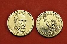 2011 P&D  BU Mint State (James Garfield) US Presidential One Dollars (2 Coins)