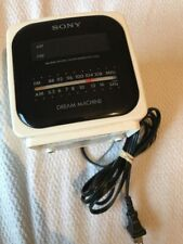 Vintage Sony Dream Machine Cube Alarm Clock Radio Icf-C122 Works Perfect