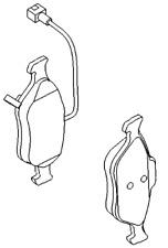 VAUXHALL Pastillas de freno Kit - ORIGINAL - 95518219