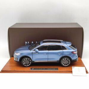 1:18 Original Lincoln Nautilus 2018 Blue Luxury SUV Diecast Model Collection