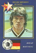 Lothar Matthäus Germany Bayern / Fussball 1990 FOOTBALL STARS COLLECTION CARD