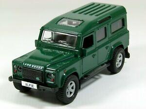 Personalised plate Land Rover Defender LWB model toy car, boy dad gift 11.5cm