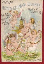 1880s Victorian Trade Card Hoyt's German Cologne Lowell MA