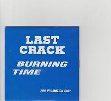 Last Crack- Burning Time UK promo cd album