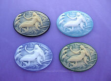 4 Fantasy MERMAID Cameos (4 Color Lot) 40mm x 30mm Costume Jewelry Craft CAMEO