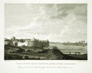 DELHI GATEWAY, BANGALORE FORT, MYSORE, INDIA by Robert Home, Rare 1794 Engraving