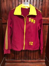 University of Minnesota-Duluth, Vintage Track Jacket 1980s Era, Men's Medium Euc