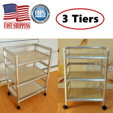 Rolling Trolley Cart 3 Tiers Hairdressing Tool Storage Equipment Organizer Salon