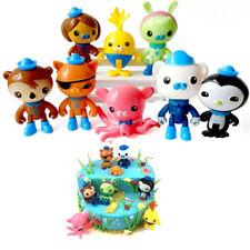8pcs/lot The Octonauts Action Figure Toys Peso Captain Kwazii Model Toys Cartoon