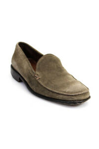 John Varvatos  Mens Slip On Suede Loafers Taupe Size 8 LL19LL