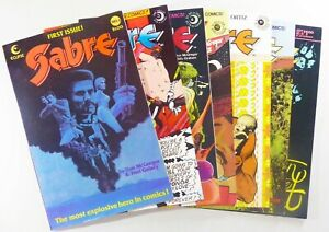 Eclipse SABRE (1982-1985) #1 3 4 10 11 13 16 FN+ to VF/NM LOT Ships FREE!