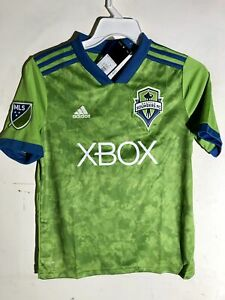 Adidas Youth MLS Jersey Seattle Sounders Team Green sz XL