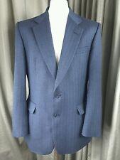 DAKS London 100% Lambswool Blue Grey Herringbone Jacket 42R EXCELLENT CONDITION