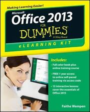 Office 2013 eLearning Kit For Dummies, , Good Condition, Book