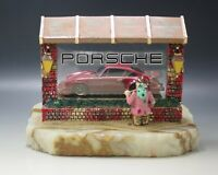 RON LEE VINTAGE 1988 WISHFUL THINKING PORSCHE CAR AND CLOWN LARGE SCULPTURE LE