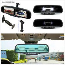 12V 4.3'' 800*(RGB)*480 4CH HD Dual Screen Mirror Anti-glare Monitor+1# Bracket