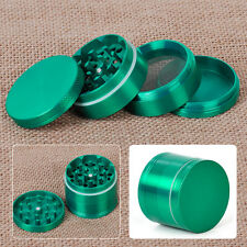Green Alloy Indian Crusher 2.0 Inch 4 Piece Tobacco Spice Herb Grinder Muller