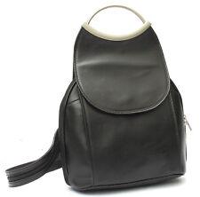 Sac à dos cuir veritable noir  NEUF Made in Italy Backpack Citybag Bandoulière
