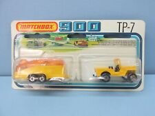 MatchboxSuperfastTwin Pack TP-7 Jeep & Glider Trailer Yellow /  WHITE #5 Base