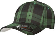 6197 Flexfit Tartan Plaid Fitted Baseball Blank Plain Hat Ballcap Cap Flex Fit