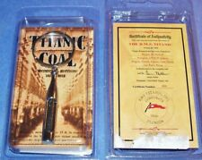 AUTHENTIC TITANIC SHIPWRECK COAL FROM 2000 EXPEDITION, IN NEW KEY CHAIN W/ COA!