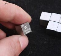 1x 99.95% High Purity Tungsten W 10mm Cube Metal Carved Element Periodic Table